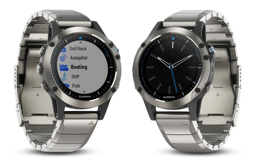Garmin quatix 5 Sapphire (rozsdamentes acél + kék szlikon szíj) b3468a8109