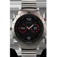 Garmin Fenix Chronos Titanium GPS-es multisport sportóra titán-hibrid  szíjjal c7c3bcebee